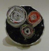 Coffee ring & paper - Anello con cialde Nespresso e carta riciclata