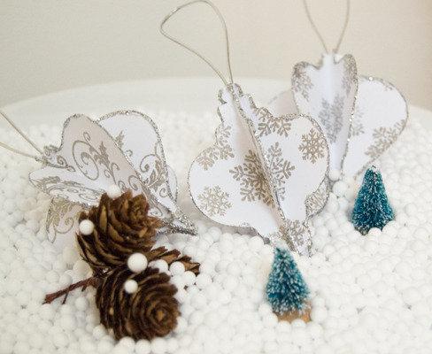 Ornamenti di carta 3D - 3 pezzi