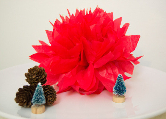Decorazioni Natale Pom Pom 5 pezzi