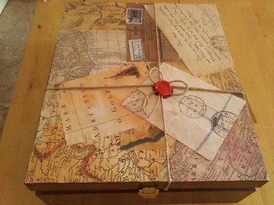 scatola in decoupage