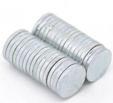 5  calamite magneti Tono Argento scuro 8 mm