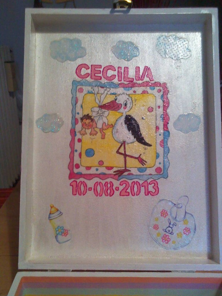 scatola artigianale per nascita