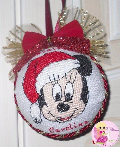 """Palline di Natale """"Cartoons"""" -punto croce- - Feste - Natale - di Il"""
