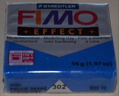 FIMO EFFECT BLU GLITTER N. 302