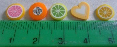 100 Fettine GRANDI di Polymer clay Canes - SFUMATURE AUTUNNALI