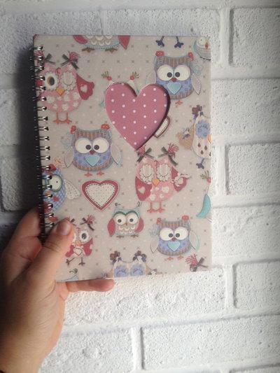Quaderno album di carta con cuore fatto a mano