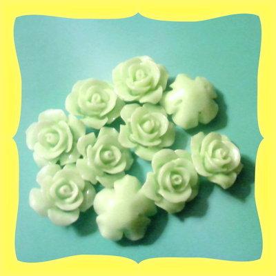 10 rose forate 14mm resina