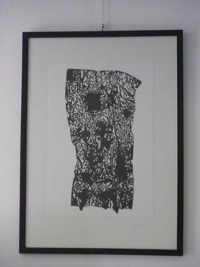 Stampa da matrice di rame con inchiostro nero