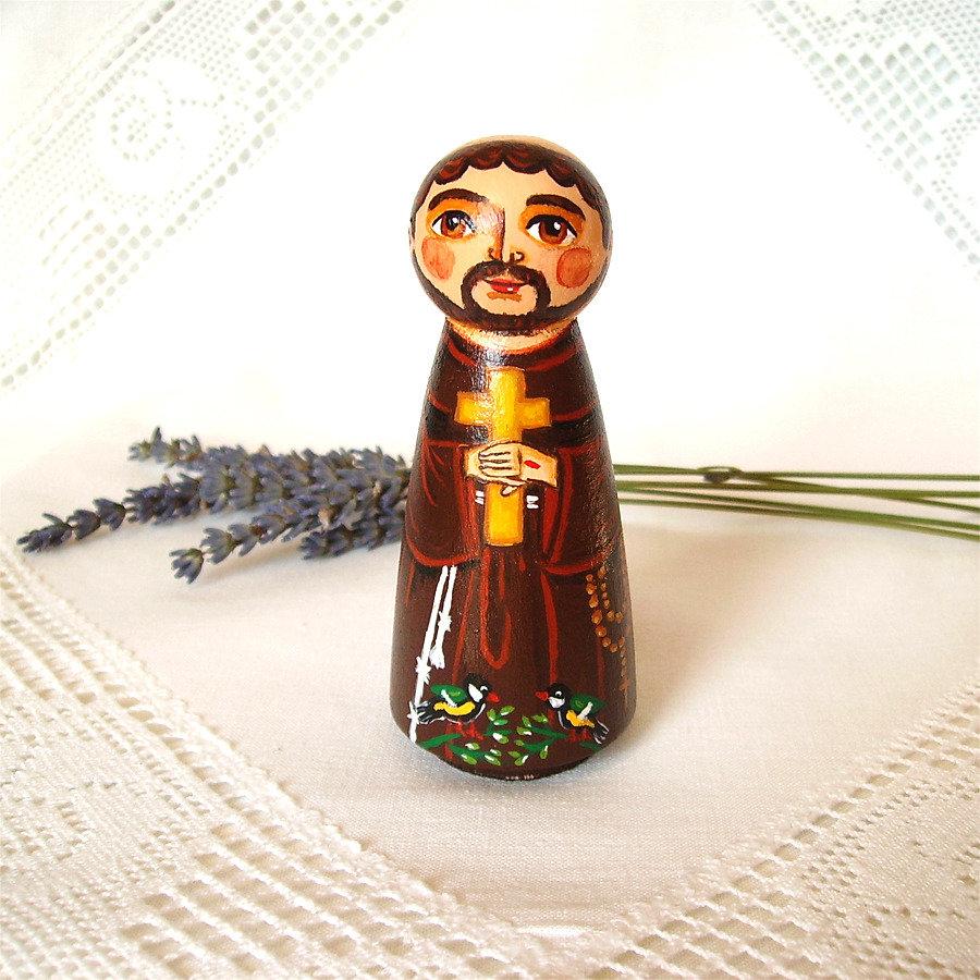 San Francesco d'Assisi cattolico cristiano Italia bambola statuetta figurina