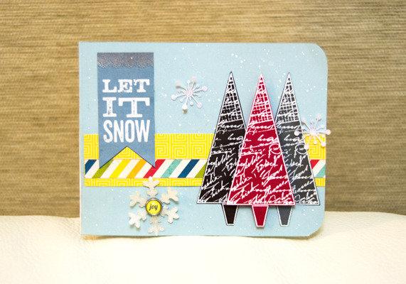 Biglietto Natale 'Let it Snow'