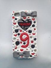 Cover per iPhone 4/4s con cuore e fiocchi