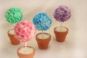 Segnaposto Bomboniera Floreale: vasetto con ortensia, colori assortiti