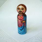 Sacro Cuore di Gesù Cristo Dio Salvatore cattolico bambola statuetta figurina