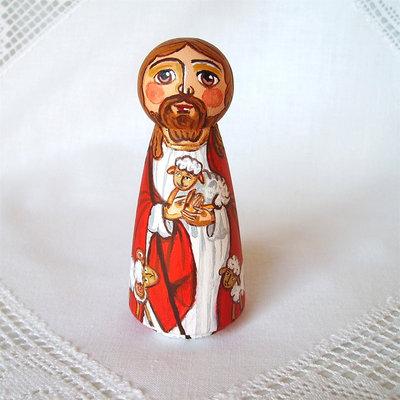 Gesù Pericope del Buon Pastore Cristo bambola statuetta figurina