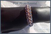 Pdf pattern,photo tutorial,diy,bracelet