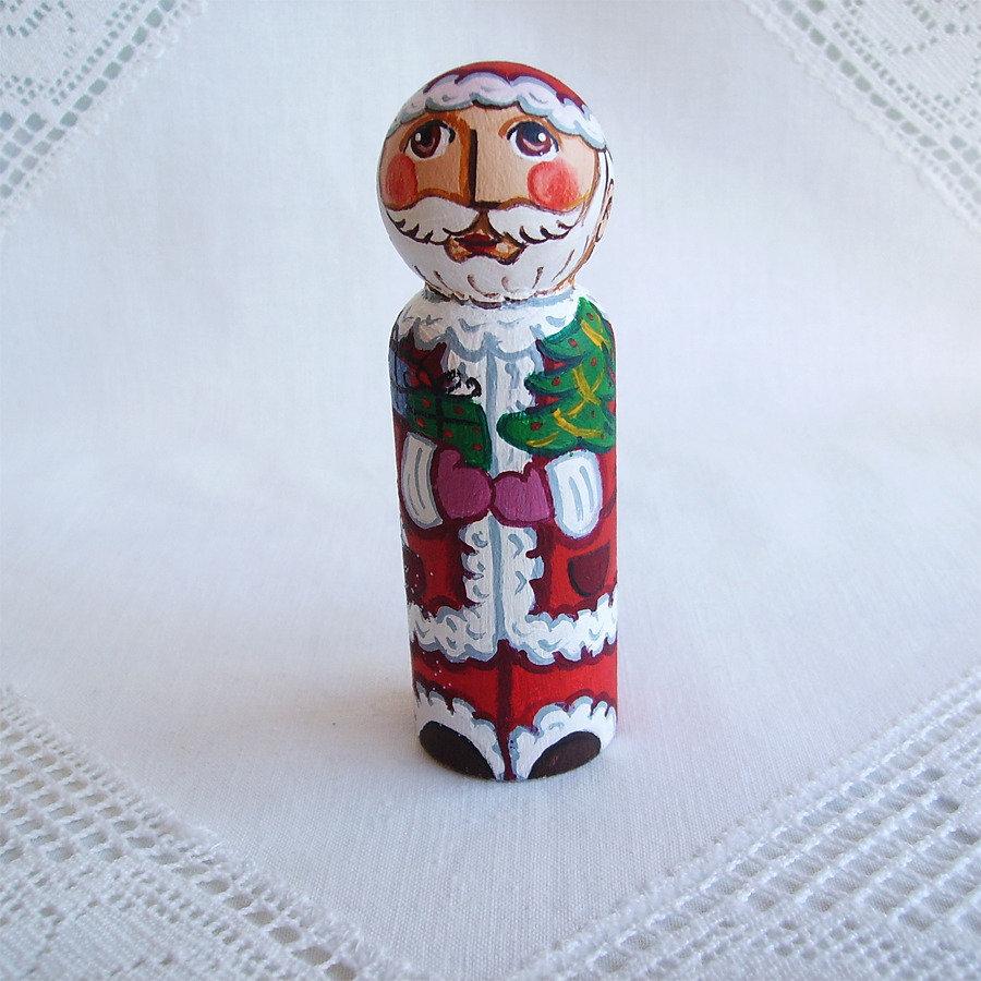 Babbo Natale San Nicola giocattolo bambino rosso bambola statuetta figurina