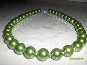 collane di perle verdi