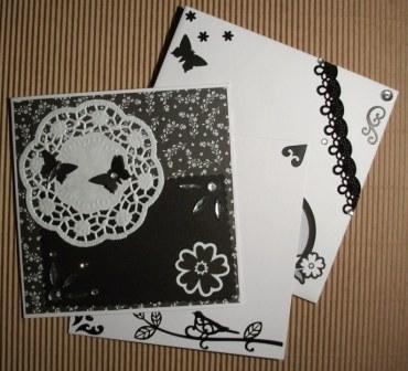 Biglietto Quadrato 3 Parti - Black&White - Cardmaking e Scrap^^
