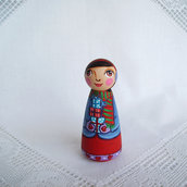 Buon Natale angelo colorato gioia Natale figurina bambola statuetta