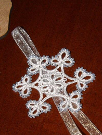 Decorazione Natalizia: fiocco di neve a chiacchierino