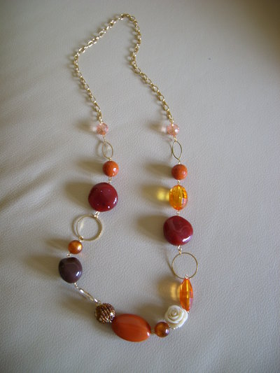 "COLLANA LUNGA FASHION ""Orange Dream"""