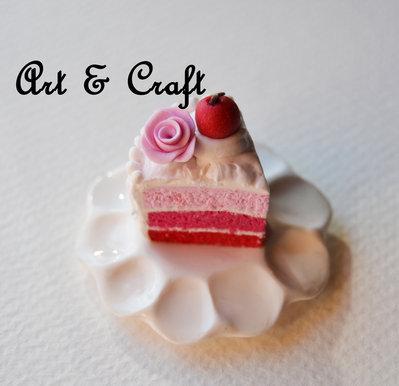 fetta di torta di fimo
