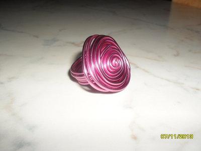 """Anello """"rosello"""" di filo wire"""