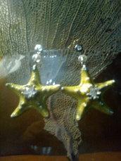 orecchini micro stelle e cristallo