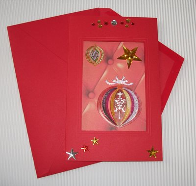 Biglietto di Auguri Natalizio Rosso - Red Christmas Cardmaking & Scrap