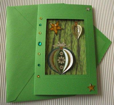 Biglietto di Auguri Natalizio Verde - Green Christmas Cardmaking & Scrap