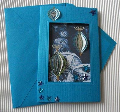 Biglietto di Auguri Natalizio Azzurro - Blue Christmas Cardmaking & Scrap