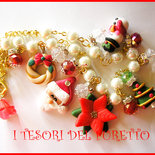 "Collana ""Natale 2013 Babbo Natale e co"" fimo cernit kawaii"