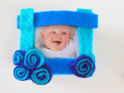 Calamita porta foto in feltro colorato
