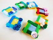 Calamite porta foto in feltro colorato: un set da 30 cornici come bomboniera