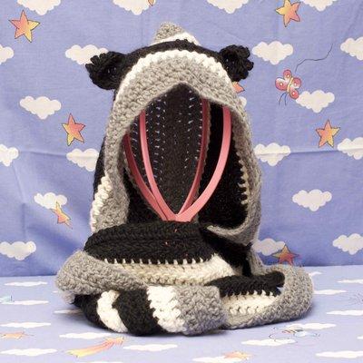 Sciarpa con cappuccio nera