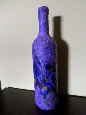 Bottiglia decorata.