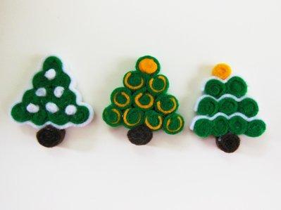 Calamita 'albero di natale verde con addobbi gialli'