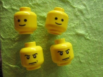 original LEGO HEAD earrings - retro style - Choose the expression