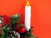 Ornamenti natalizio a forma di candela