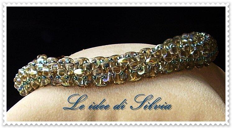 Bracciale spirale di perline
