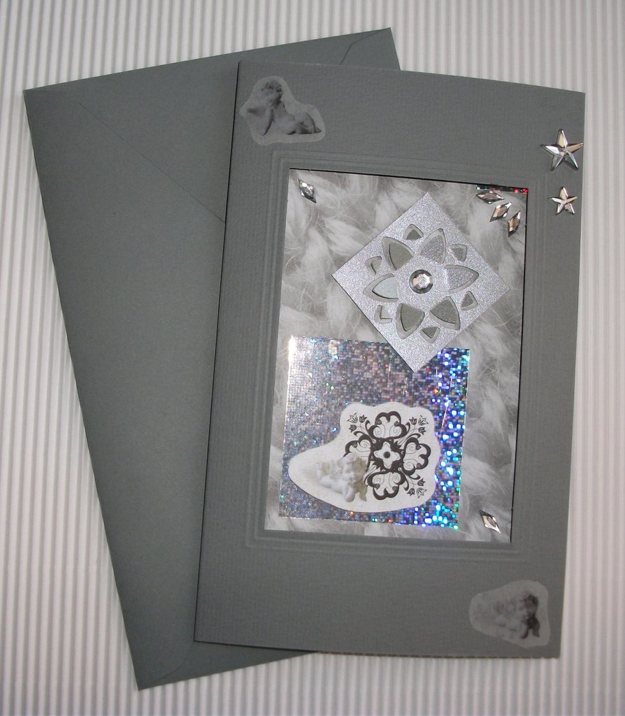 Biglietto di Auguri Natalizio Grigio - Grey Christmas Cardmaking & Scrap