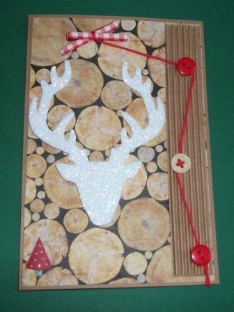 Biglietto di Auguri Natalizio Renna^^ - Reindeer Christmas Cardmaking & Scrap