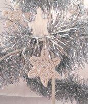 """Decorazione natalizia fiocco di neve """"Barber"""" (art. 6_bianco/oro)"""