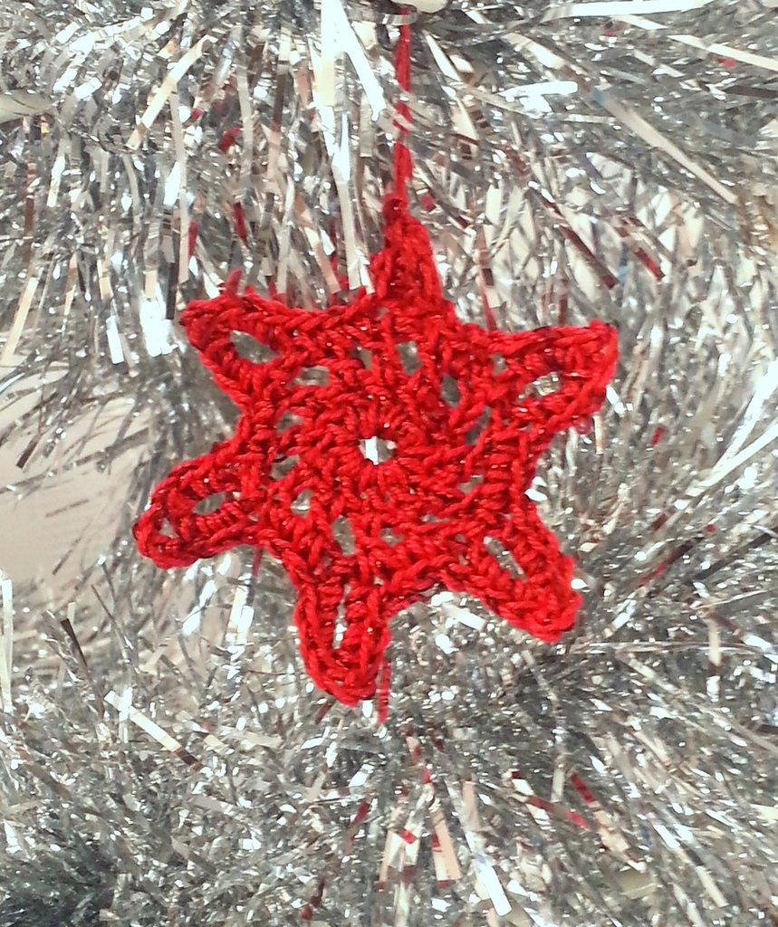 """Decorazione natalizia fiocco di neve """"Barber"""" (art. 6_rosso)"""