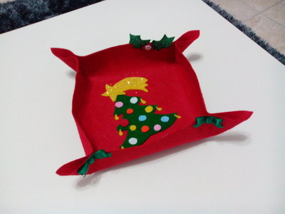 Svuotatasche natalizio in pannolenci