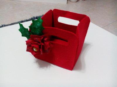 Sottovaso natalizio in pannolenci