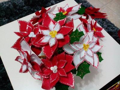 Fiore stella di natale in pannolenci