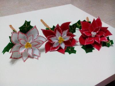 Stella Di Natale Con Pannolenci.Fiore Stella Di Natale In Pannolenci