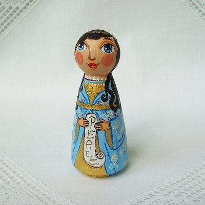 Buon Natale angelo colorato gioia Natale bambola statuetta figurina
