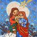 Sacra Famiglia e la stella presepe Natività stampa